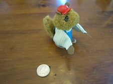 Vintage Fisher Price Woodsey Squirrel Family log wood tree store boy son red