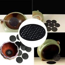 10x 4.5cm Diameter Bottom Grid Mat Hole Mesh Pad Flower Pot Prevent Soil Loss