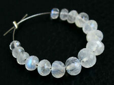 3-5mm Natural White Moonstone Faceted Rondelle Semi Precious Gemstone Beads