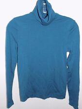 Wolford soft Merino Wool Teal Turtleneck Sweater Long Sleeve EUC Small