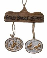 GOLD BUCKLE DREAMS RODEO ORNAMENT MONTANA SILVERSMITHS NEW