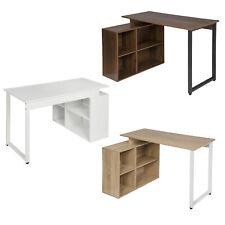 Schreibtisch Bürotisch Eckschreibtisch MDF Computertisch mit Regal Arbeitstisch