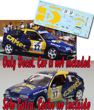 Decal 1:43 Antonio Ponce - CITROEN ZX 16V - Rally El Corte Ingles 1998