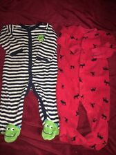 Boys 6 Months Carters Footy Pajama Lot
