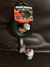 Mammoth - Tire Biter Paw Tracks with Rope Dog Toy Small