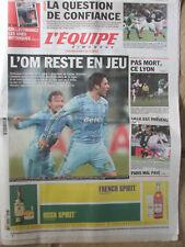 L'Equipe du 13/02/2011 - Tournoi : avant Irlande-France - L'OM - OL - Lille -