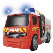 Dickie SOS Kids Fire Fighter Fire Engine Push & Play Lights & Sounds Playset