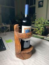 Sea Turtle Wine Bottle Holder, Wooden (Wine Not Included)