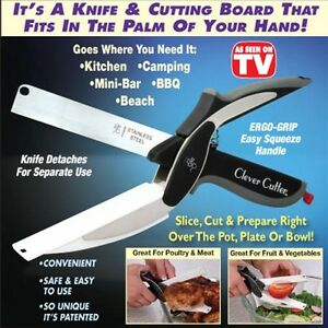Clever Cutter 2-in-1 Cutting & Knife Board Scissors As Seen On TV - FREE POST UK