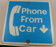 """Vintage 1 Sided Phone From Car Telephone Wall Sign 24"""" by 24"""" Free Shipping"""