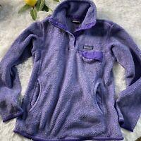 Patagonia Women's Re-Tool Snap-T Fleece Polartec Pullover Sweater Sz Small