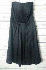 White House Black Market WHBM Womens Sz 0 Dress Silk Black Pleated Cocktail