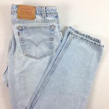 VTG USA Made LEVI's 550 Tapered Leg Jeans Mens actual sz 33x31 Light Wash Grunge