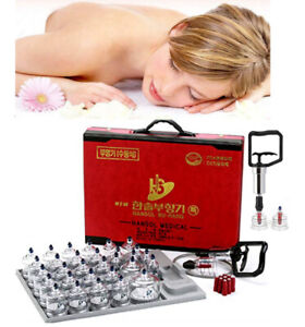 Cupping Set Vacuum Therapy Pumping Handle Health [30 Cup] Hansol Professional AU
