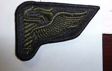 U.S.ARMY SUBDUED PATHFINDER BADGE, CLOTH,SUBDUED,LARGE,1970-80'S ON HELMET COVER