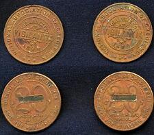 TWO 1919 Medals, VIGILANTIA, National Association of Credit Men, Detroit tokens