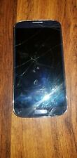 Samsung Galaxy S4 Blue Straight Talk Smartphone FOR PARTS Cracked