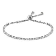 925 Sterling Silver Classic Tennis Bracelet White CZ Womens Jewelry Charm