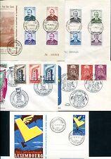 LUXEMBURG 1951-1957 454-457 FD C etc kleine SAMMLUNG über 500€(66613c