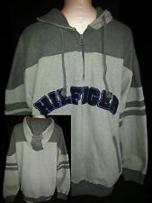 TOMMY HILFIGHER Mens 1/3 Zip Pullover Front Hoodie Sweatshirt Jacket Large Gray