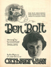 BEN BOLT Music Sheet-1920-DOROTHY PHILLIPS/MARGARET MANN/ONCE TO EVERY WOMAN
