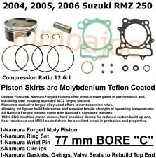 B Standard Bore Namura HYPERDRYVE Piston Kit Suzuki RMZ250 2007-2009 77.01mm