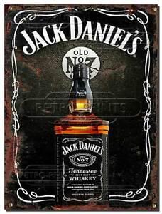 Jack Daniels Rusty Effect Metal Wall sign plaque pub bar man lady cave kitchen