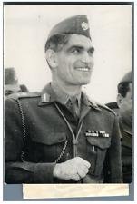 Irak, Général Kassem  Vintage silver print,Abdul Karim Qasim aussi appelé géné
