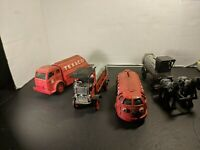 Texaco diecast Horse drawn tanker,train , tanker, truck bankCOLLECTIBLE LOT of 4