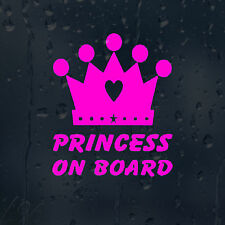 Princess On Board Car Decal Vinyl Sticker For Bumper Or Panel Or Window