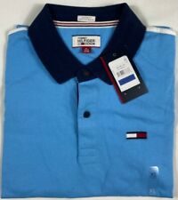 GENUINE Tommy Hilfiger Denim Men's Grant Custom-Fit Colorblocked Logo Polo XL
