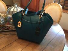 RALPH LAUREN Lexington SHOPPER TOTE Turk Blue Handbag Purse NWT
