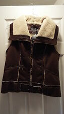 Montanaco Brown with Lamb (look) Lined Vest (Women's)
