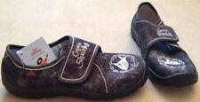 Capt'n Sharky Hausschuhe Gr. 31 gefüttert Canvas grau  Coppenrath Schuhe NEU