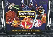 Star Wars 40th Anniversary Base Card #96 Angry Birds Star Wars is Released