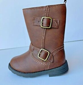 Carter's Brown Boots Toddler Girls 6 New Zipper Fashion Shoes NWT Erica Mid Calf