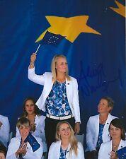 Anna Nordqvist signed Lpga 8x10 Solheim Cup photo with Coa