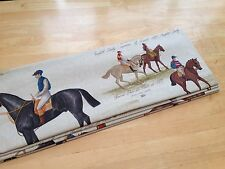 Roman Blind Derby Ascot Horse Racing Fabric Interlined Mechanised Track MTM