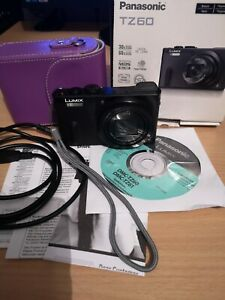 Panasonic LUMIX DMC-TZ60 18.1MP Digital Camera - Black, Excellent Condition