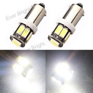 50Pcs BA9S T4W 233 1895 H6W 5630 10SMD LED Wedge Light LED Side Light Bulb 12V