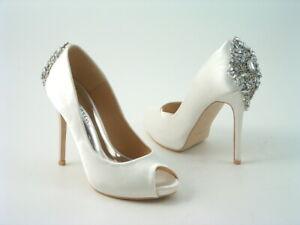 Ladies Women's Bridal Prom Wedding Bridesmaids Diamante Platform High Heel Size