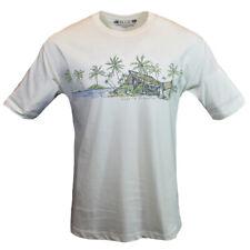 Lost in Paradise Men's T-Shirt Bahama Beach Vintage NEWPORT BLUE Hawaii Fishbone