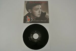"""Paul McCartney Back On My Feet Once Upon 7"""" 45 rpm Vinyl Record 1987 Germany EX"""