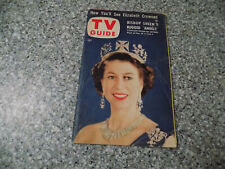 """1953, Queen Elizabeth Coronation, """"TV GUIDE"""" Magazine May 29, 1953 Volume 1 No 9"""