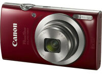 NEW Canon PowerShot ELPH 180 with 20.0 MP CCD Sensor and 8x Optical Zoom