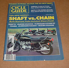 8/1980 Cycle Guide Magazine