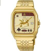 SEIKO ALBA Super Mario Bros Limited Model Watch ACCK711 Gold New from Japan
