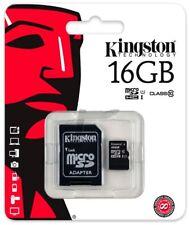 Micro SD 16 GB 16 GB 16 GB 16 GB 16  Scheda Memoria CLASS 10 4 Kingston MicroSD