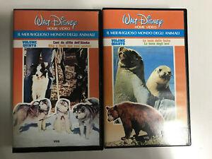 IL MERAVIGLIOSO MONDO DEGLI ANIMALI - VOLUME 4 e 5 - 2 VHS  - WALT DISNEY
