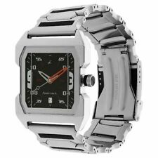 Fastrack® by Titan® NK1474SM02 Analog Men's Watch w/ Silver & Black Metal Strap